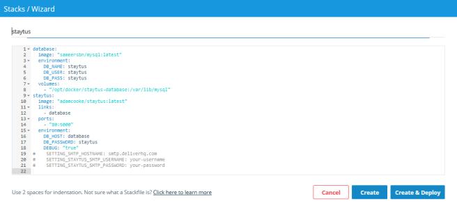 Deploy Staytus on Docker Cloud | gargcode